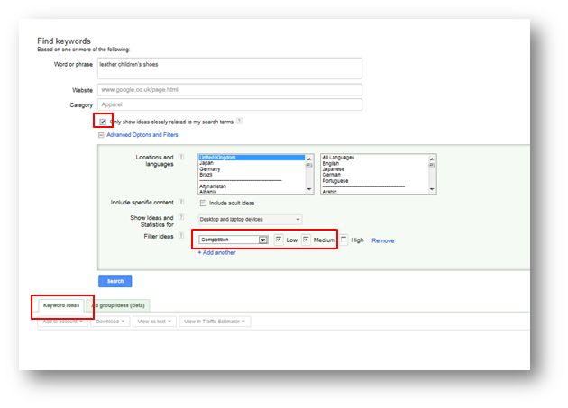 how to setup a google adwords campaign