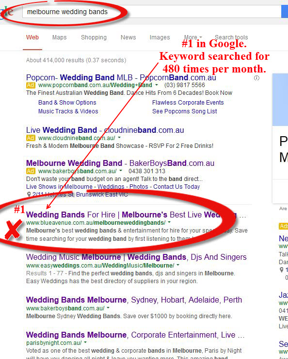 SEO Melbourne Wedding Bands 1